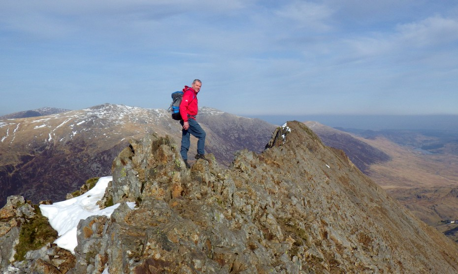Scrambling on Crib Goch