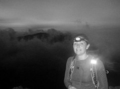 At the start of the Crib Goch ridge before sunrise