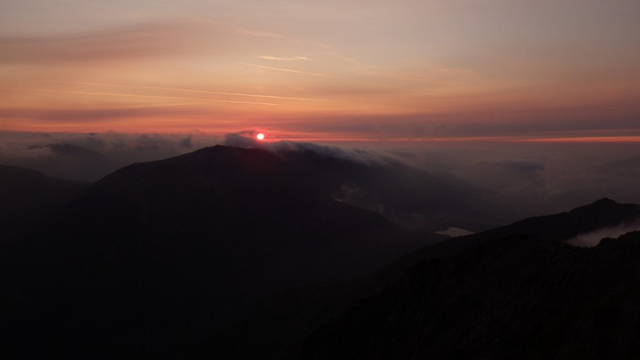 Sunrise over Snowdonia