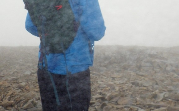 Alan had to take a bearing in bad visibility and walk on it with no helping features!