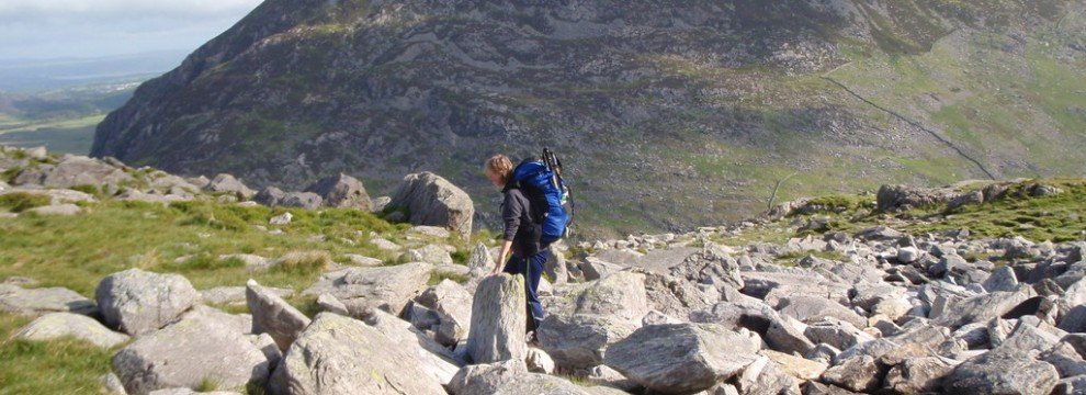 Making out way down the side of Tryfan after 2 days out.