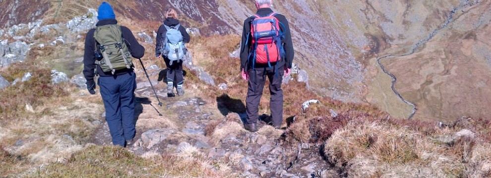 Coping with steep ground in the mountains