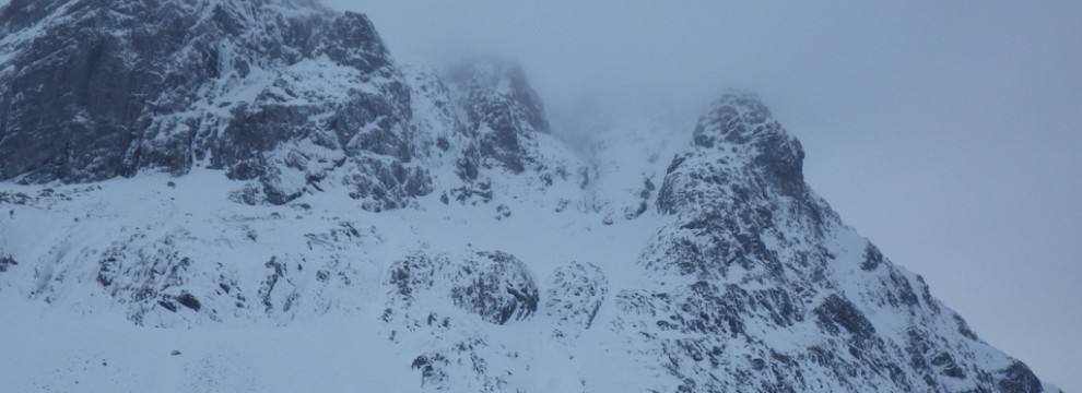 Misting conditions on the North face of the Ben