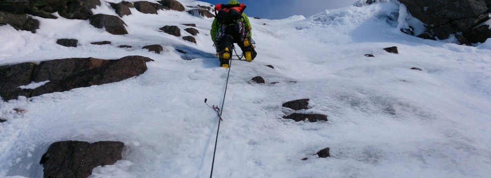 The second Ice pitch on Central Gully on Lurcher