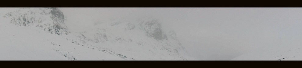 White out conditions looking towards the North face on Ben Nevis