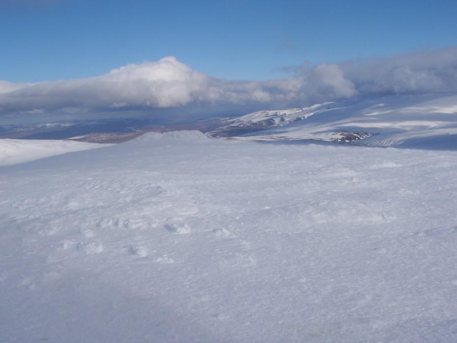 Lovely views across the Cairngorm mountain range.