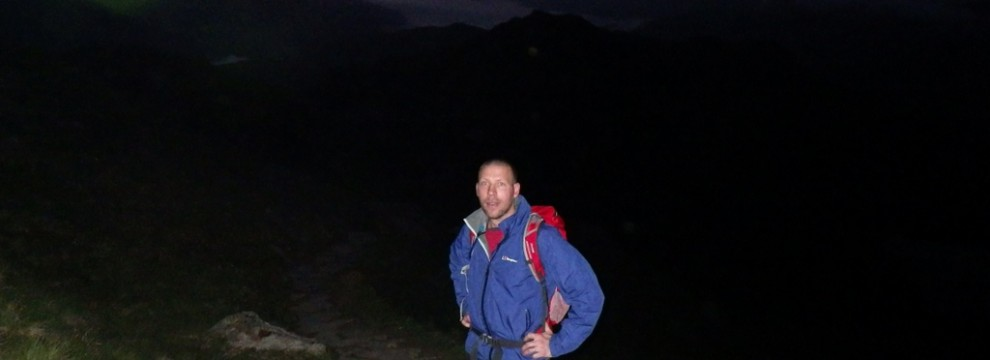 Before the start of climbing the steep Crib Goch ridge
