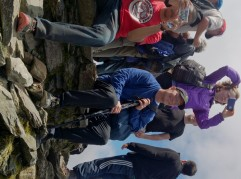 The summit of Snowdon and we had the weather for it!