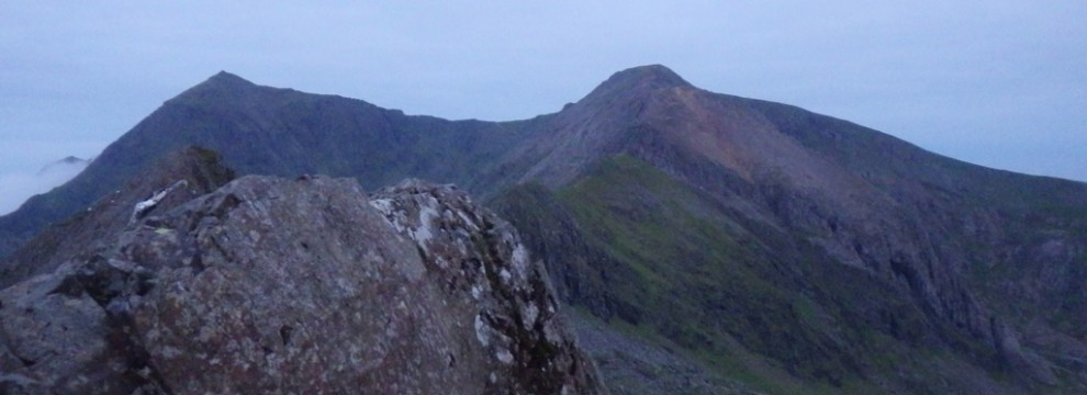 Looking back over Crib Goch
