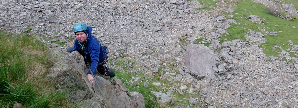 Just over the crux moves