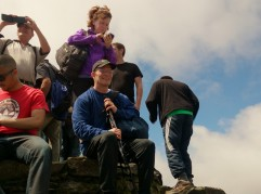 Snowdon summit trig point was the most dangerous part of the walk