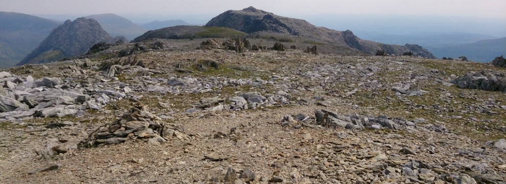 Looking across the plateau on the Welsh 3000s - 14 peaks