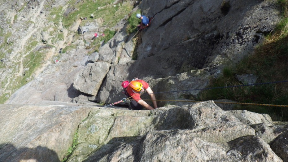 Lorraine on Dinas Mot. The second pitch hand jamming.. a good place to learn