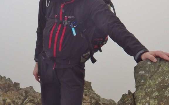 Even a smile on the summit of Crib Goch