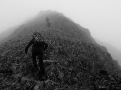 On the south ridge of Crib Goch