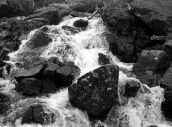 The stream over flowing in Cwm Idwal is very dramatic