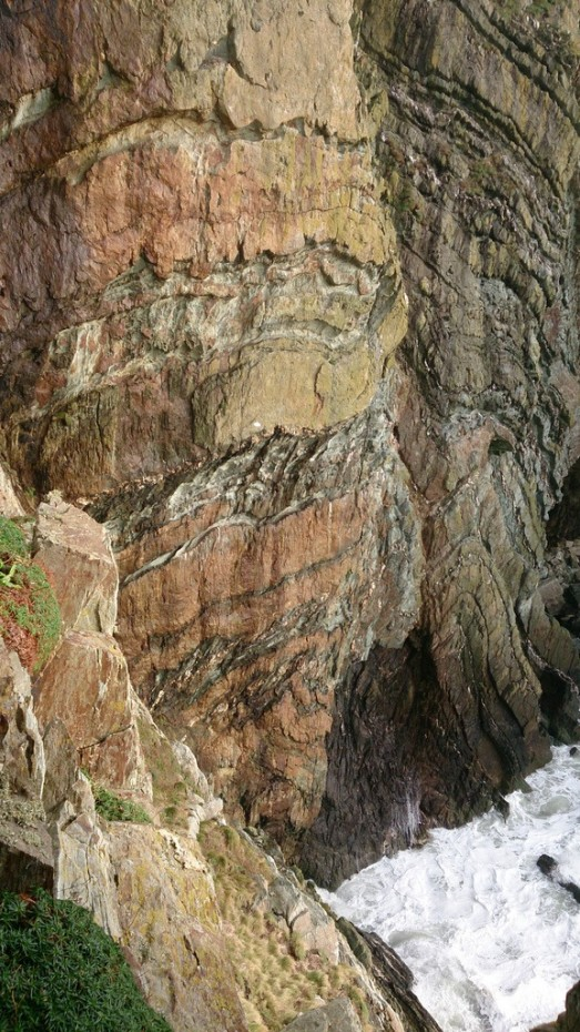 The amazing rock formations on the Anglesey Sea Cliffs in the South Stack area