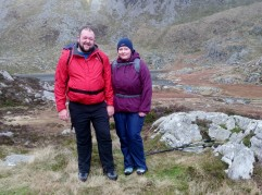 Lindsey and Dylan enjoying the beautiful views in Cwm Lloer