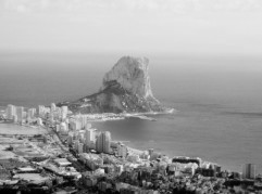 Rocking climbing on the Penon Calpe Costa Blanca Spain