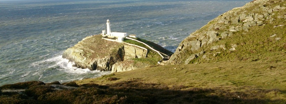 Looking across to South Stack light house