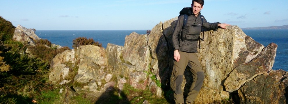 Anglesey Coastal Path at Holyhead Mountain North Stack