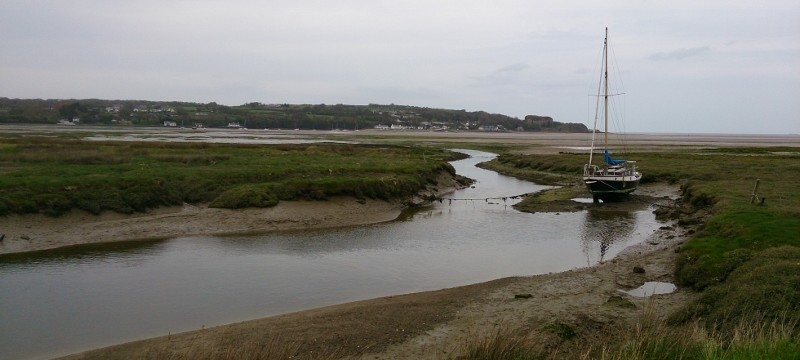 Anglesey Coastal path with beautiful views across Traeth Coch