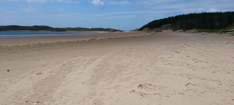 Anglesey Coastal Path  Llanddwyn Island from Newborough beach