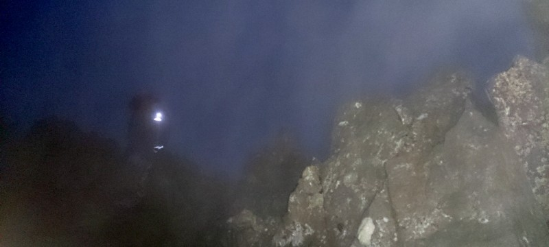 Head torches full on for the start of the Welsh 3000s 14 peaks!
