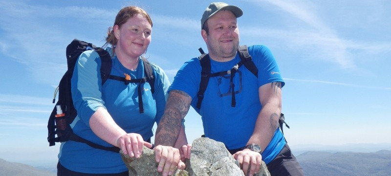 Welsh 3000s preparation on the summit of Crib Goch