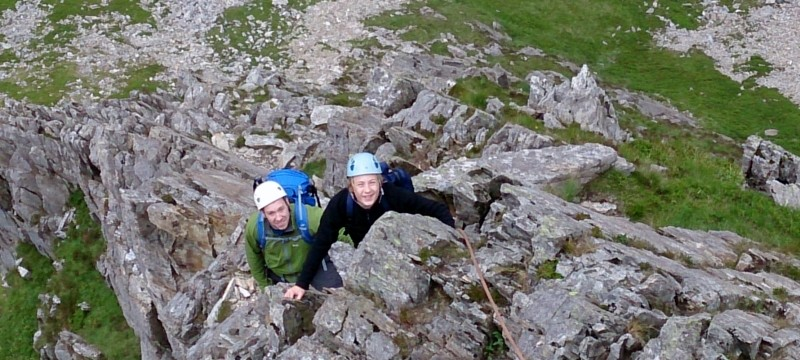 Rock scrambling in Snowdonia with Mountaineering Joe