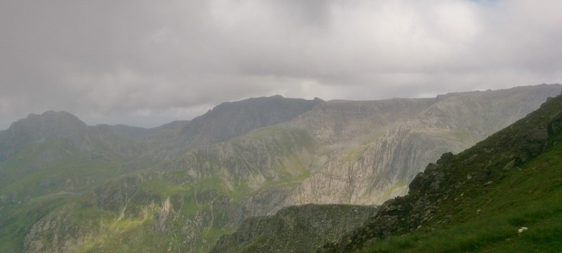 Welsh 3000s challenge with beautiful across the Glyder range in Snowdonia