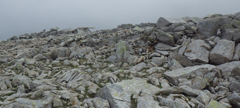 White out conditions on the Glyders in Snowdonia