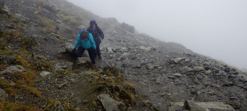 Walking up the south side od Snowdon n full on conditions