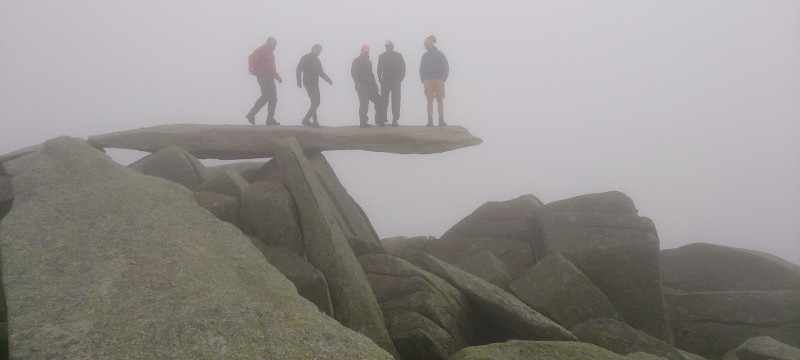 On the Cantilever stone in the mist