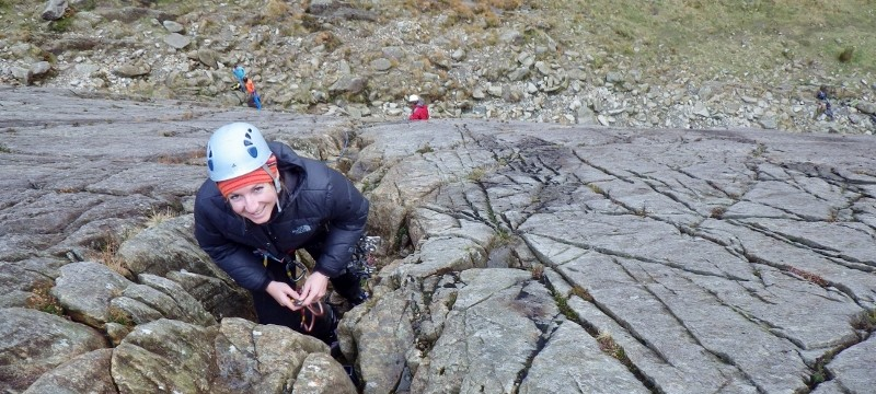 Rocking climbing in Snowdonia