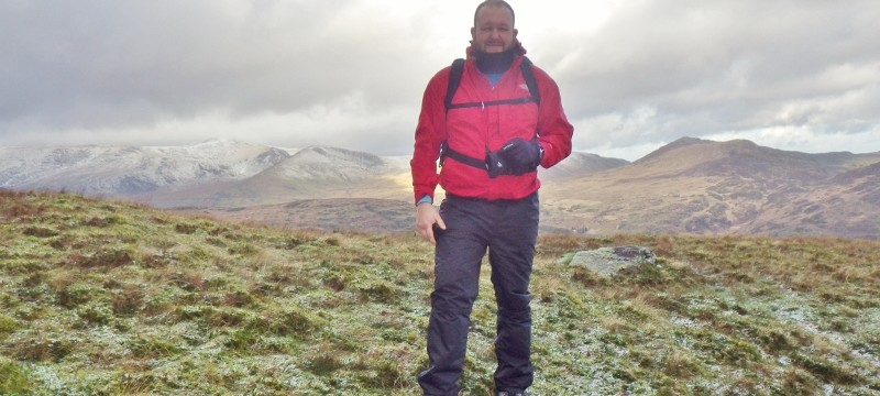 The Snowdon horse shoe in the background