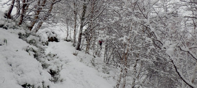 Walking in the Cairngorms in full winter conditions