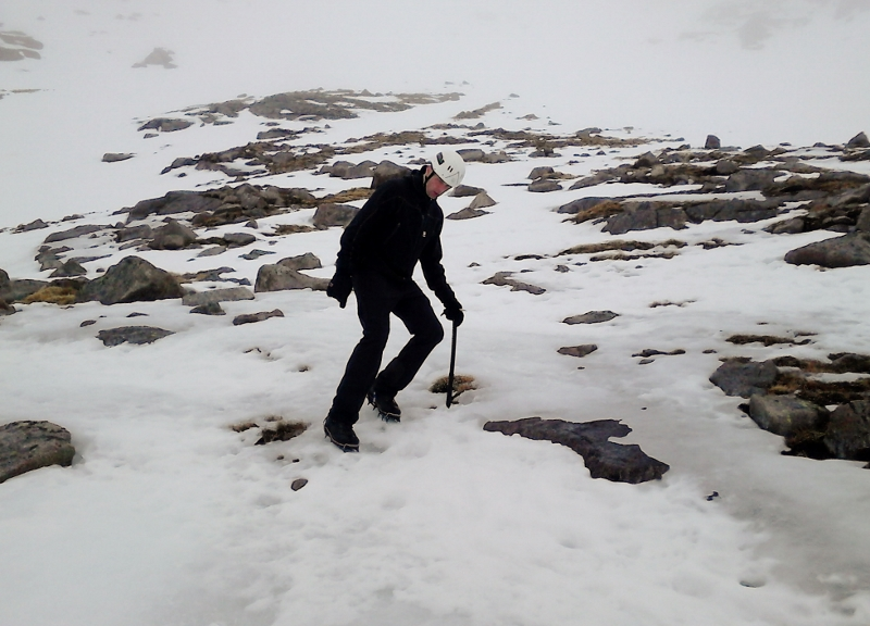 Practicing Ice axe arresting at the beginning of the winter seasons keeps all your skills fresh