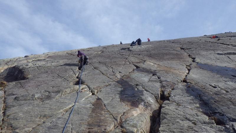 Multi pitch rock climbing in Snowdonia