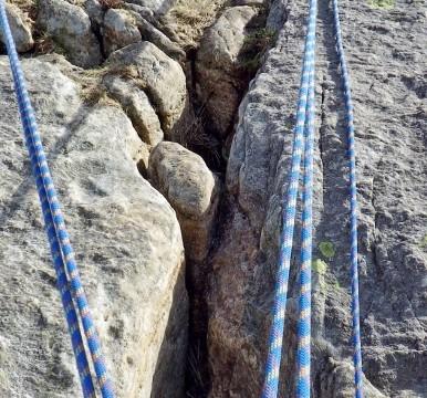 Multi pitch rock climbing belays
