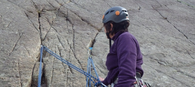 Multi pitch rock climbing in Snowdonia in Ogwen Valley