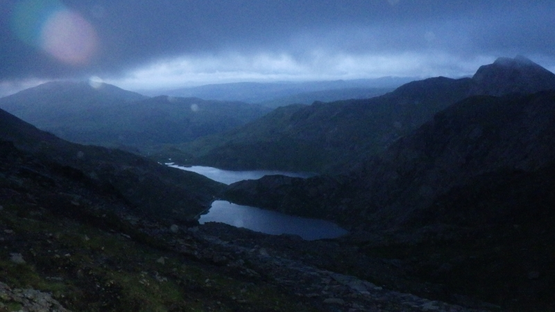 Welsh 3000s Crib Goch at dawn
