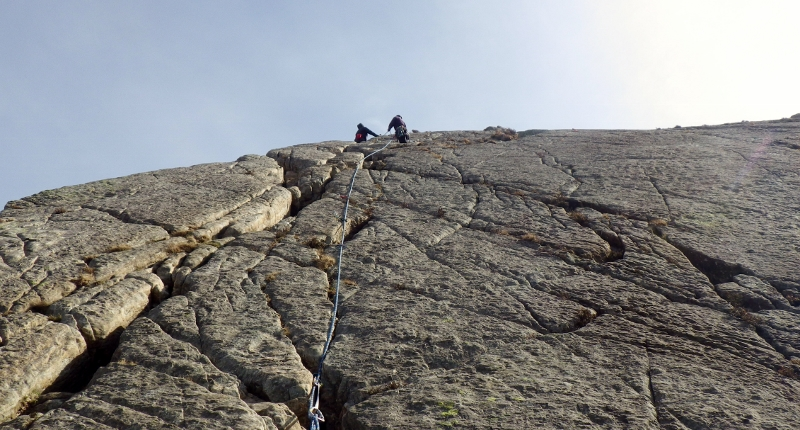 learning to climb Multi pitch rock