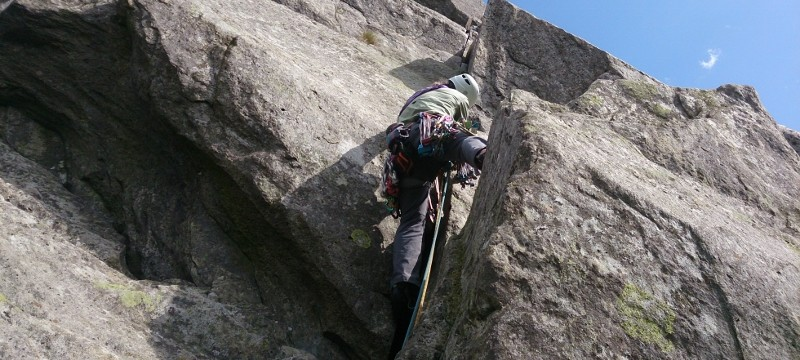Rock climbing in Snowdonia, Milestone Buttress