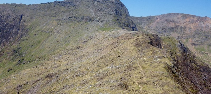 Walking across the Snowdonia range