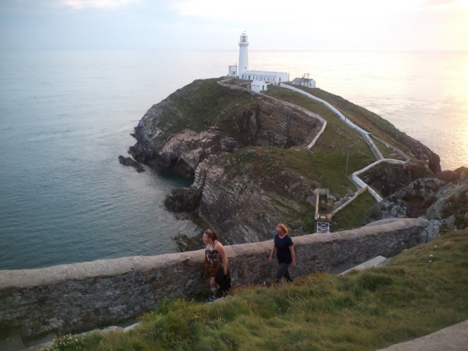 Walking on the Anglesey coastal path The light house path