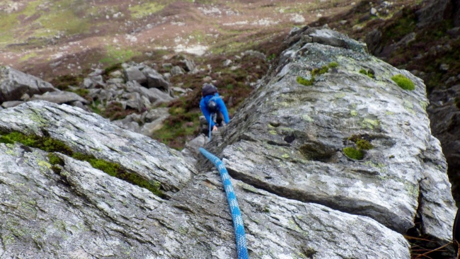 Rope techniques for Rock scrambling