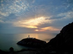 Anglesey Coastal path.  South Stack. You can see some amazing sunsets from Anglesey.