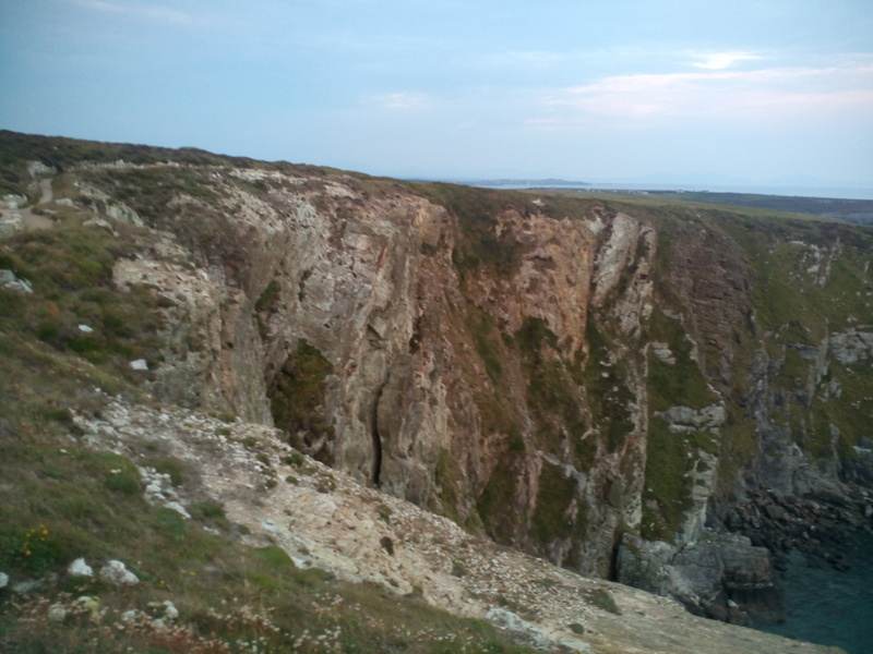 Fantastic cliffs along the coast