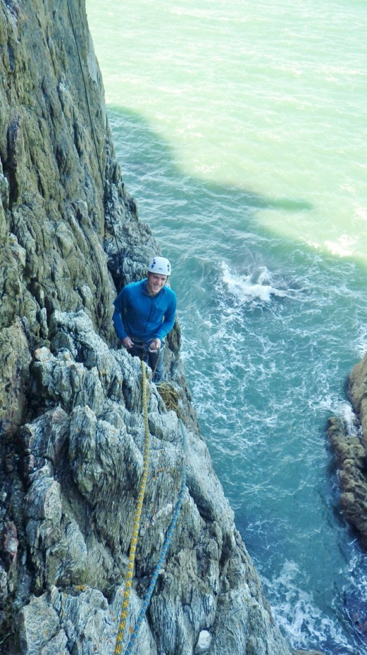 Mike on the lower ledges